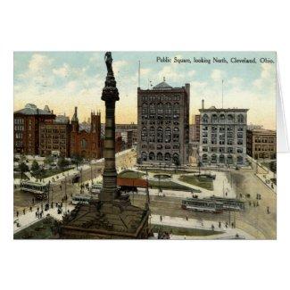 Public Square Cleveland Ohio 1910 vintage card
