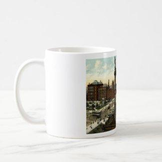 Public Square Cleveland Ohio 1910 vintage mug