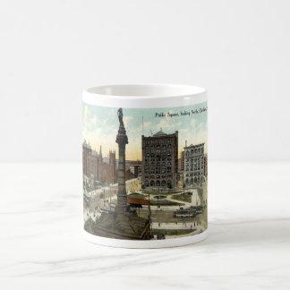Public Square Cleveland Ohio 1910 vintage Classic White Coffee Mug