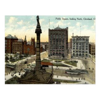 Public Square Cleveland Ohio 1910 vintage Postcard