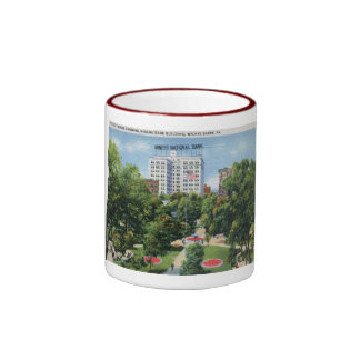 Public Square, Wilkes-Barre PA Vintage Mug