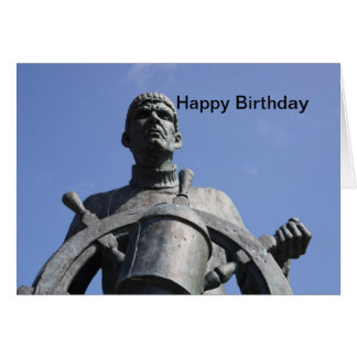 Public Statue of A Sailor Happy Birthday Card