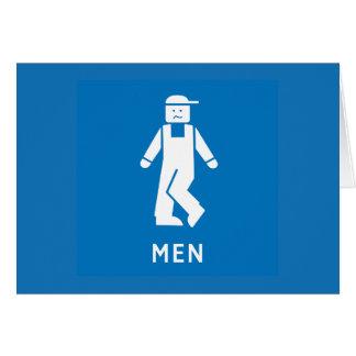 Public Toilet Men, Sign, California, US Card