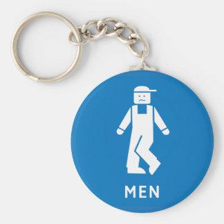 Public Toilet Men, Sign, California, US Key Chains
