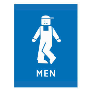 Public Toilet Men, Sign, California, US Postcard