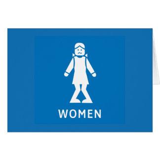 Public Toilet Women, Sign, California, US Card
