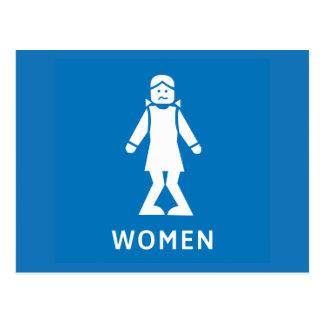 Public Toilet Women, Sign, California, US Postcard