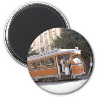 Public transit in Alexandria Egypt 2 Inch Round Magnet
