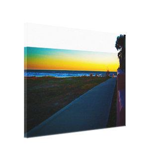 Public Walkway To The Beach At Sunrise Canvas Print
