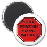 Public Workers Against Walker Fridge Magnet