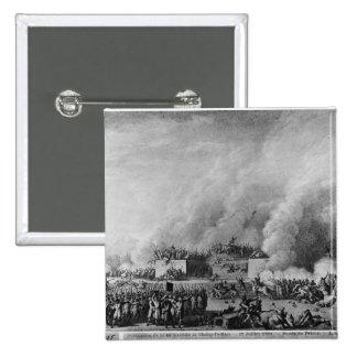Publicación de la ley marcial en pin cuadrada 5 cm