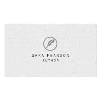 Publicación elegante del icono de la canilla del tarjetas de visita