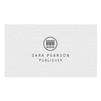 Publicación elegante del icono de los libros del tarjetas de visita