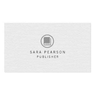 Publicación elegante del icono del libro del tarjetas de visita