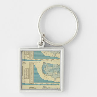 Publications and circulation Silver-Colored square keychain
