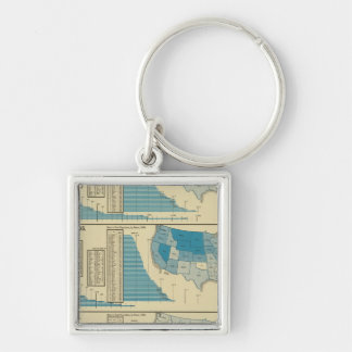 Publications Silver-Colored Square Keychain
