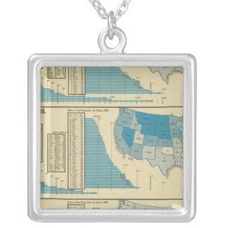 Publications Square Pendant Necklace
