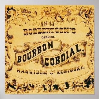 Publicidad cordial del vintage del ~ de Borbón Poster