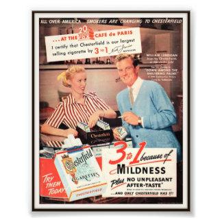 Publicidad de cigarrillo de Chesterfield del vinta Arte Fotografico