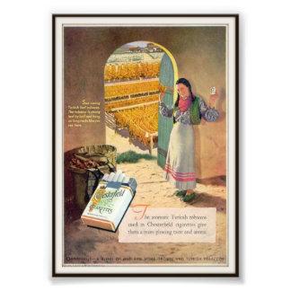 Publicidad de cigarrillo de Chesterfield del vinta Impresion Fotografica