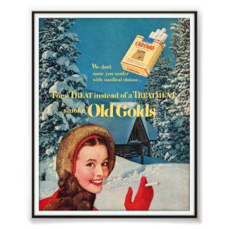 Publicidad de cigarrillo de Chesterfield del vinta Fotografias