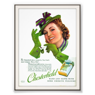 Publicidad de cigarrillo de Chesterfield del vinta Cojinete
