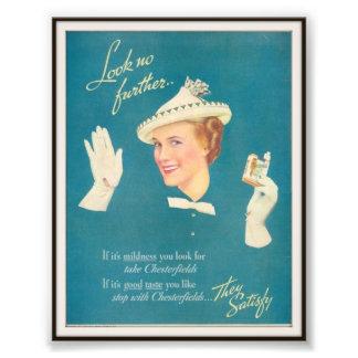 Publicidad de cigarrillo de Chesterfield del vinta Impresiones Fotográficas