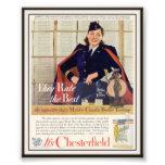 Publicidad de cigarrillo de Chesterfield del vinta Fotografia