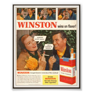 Publicidad de cigarrillo de Winston del vintage 19 Fotografías