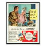 Publicidad de cigarrillo del camello del vintage 1 fotografía