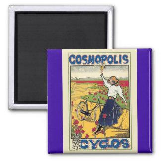 Publicidad de la bicicleta del vintage de Cosmopol Iman De Frigorífico