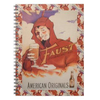 Publicidad de la cerveza del vintage originales a libretas
