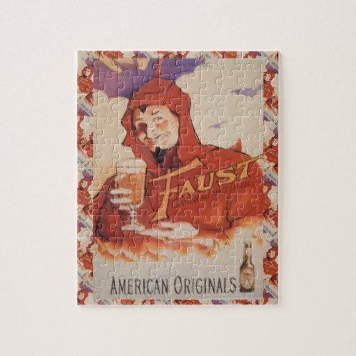 Publicidad de la cerveza del vintage, originales a rompecabezas con fotos