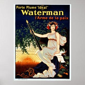 Publicidad de la pluma del barquero del vintage póster
