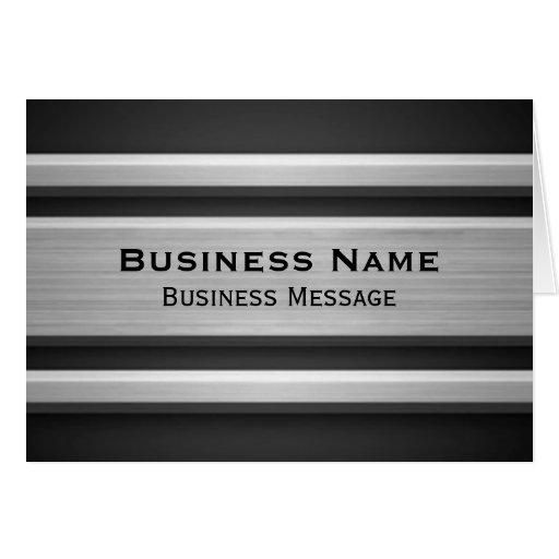Publicidad de negocio de plata y negra de la mirad felicitaciones