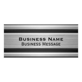 Publicidad de negocio de plata y negra de la tarjeta publicitaria