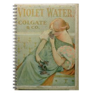 Publicidad de poster agua violeta por Colgate y Libro De Apuntes Con Espiral