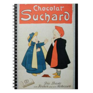 Publicidad de poster chocolate de Suchard color Libretas