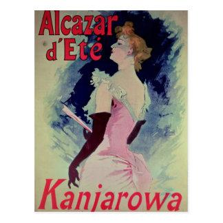 """Publicidad de poster """"d'Ete del Alcazar """" Postal"""