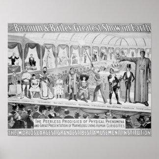 Publicidad de poster, 'el Barnum y el Bailey