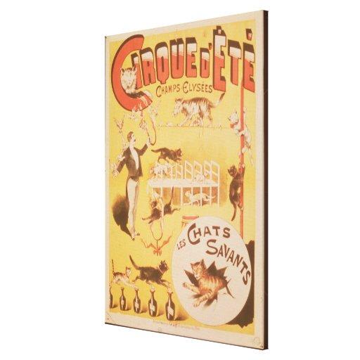 Publicidad de poster el d'Ete de Cirque en Lienzo Envuelto Para Galerias