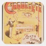 Publicidad de poster el d'Ete de Cirque en Pegatina Cuadrada