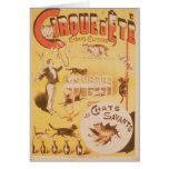 Publicidad de poster el d'Ete de Cirque en Tarjeta De Felicitación