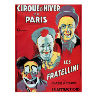 Publicidad de poster el 'd'Hiver de la París de Ci Tarjetas Postales
