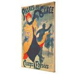 Publicidad de poster el Palais de Glace Lienzo Envuelto Para Galerías