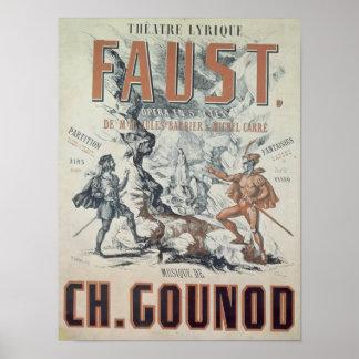 Publicidad de poster Faust