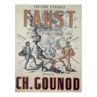 Publicidad de poster 'Faust Postal