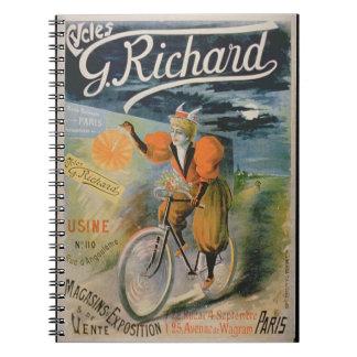 Publicidad de poster G Richard Cycles París c Libreta Espiral