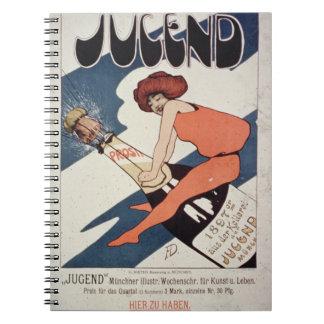 Publicidad de poster Jugend mag semanal ilustrad Libretas