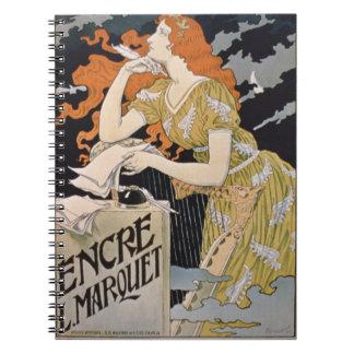 Publicidad de poster L Marquet Ink el mejor del Libros De Apuntes Con Espiral